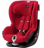 Автокресло Britax Roemer King II LS Black Series Fire Red Trendline (красный)