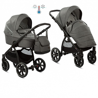 Коляска Noordi 2 в 1 Fjordi Sport Dark Grey (т.серый 813)