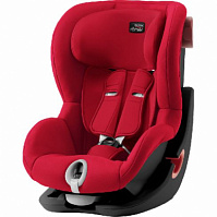Автокресло Britax Roemer King II Black Series Fire Red Trendline (красный)